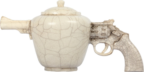 Raku Revolver Teapot,[product_collection],The Great Eastern Home, - Artisera