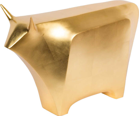 Stylized Bull (Gold Leaf),[product_collection],The Great Eastern Home, - Artisera