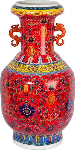 Porcelain Oriental Vase,The Great Eastern Home, - Artisera