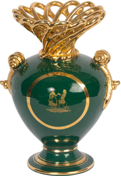 Vase With Stylized Gold Top,[product_collection],The Great Eastern Home, - Artisera