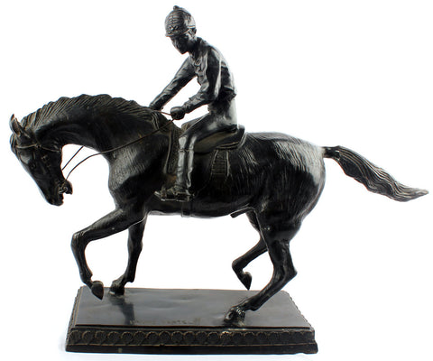 Jockey on Horse - II,[product_collection],Essajees, - Artisera