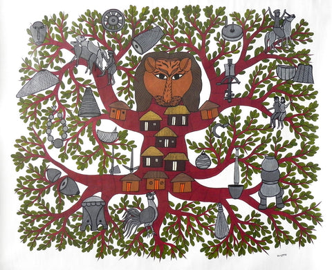 Gond - Untitled 28,[product_collection],Must Art,Bhajju Shyam - Artisera