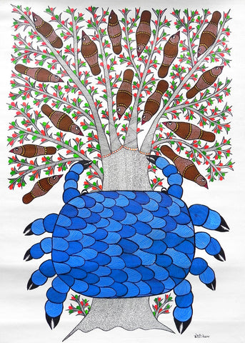 Gond - Untitled 39,Must Art,Chhoti Tekam - Artisera