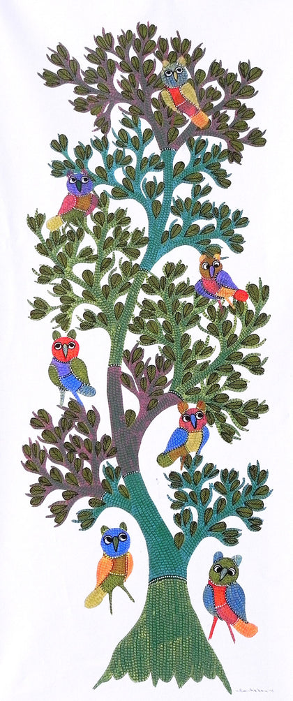 Gond - Untitled 30,[product_collection],Must Art,Gareeba Tekam - Artisera