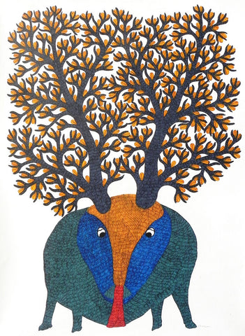 Gond - Untitled 32,Must Art,Gareeba Tekam - Artisera