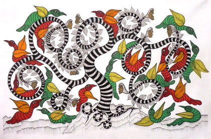 Gond - Untitled 33,[product_collection],Must Art,Japani Shyam - Artisera