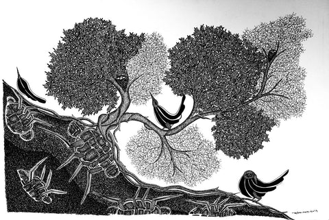 Gond - Untitled 34,Must Art,Mayank Shyam - Artisera