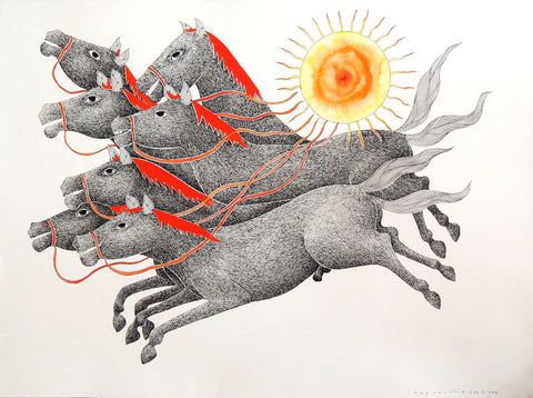 Gond - Untitled 38,[product_collection],Must Art,Venkat Raman Singh Shyam - Artisera