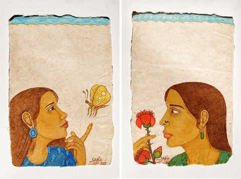 Untitled (Set of 2 Drawings),[product_collection],Vernssage,Sabia Khan - Artisera