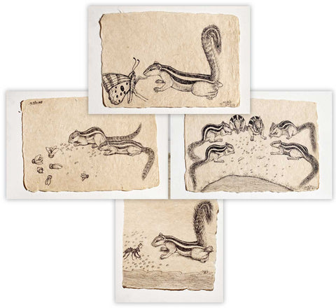 Untitled (Set of 4 Drawings),[product_collection],Vernssage,Sabia Khan - Artisera