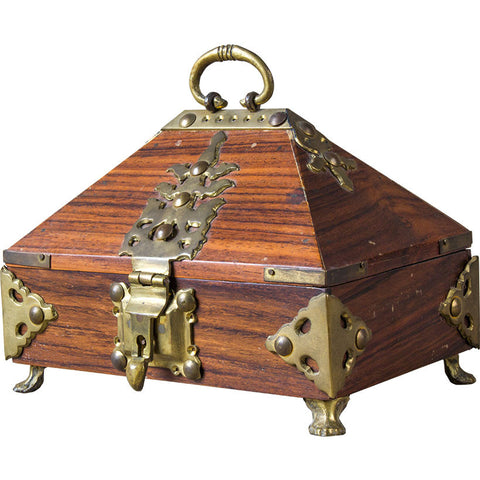 Carved Box with Fixtures,Rani Arts & Teak, - Artisera