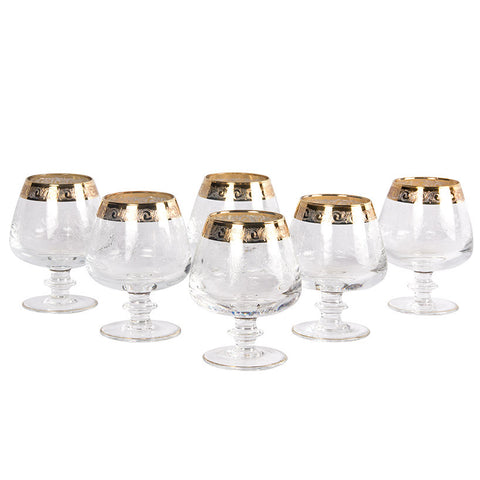 French Gold-Trimmed Glasses,Essajees, - Artisera