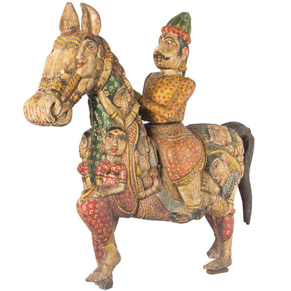 Gujarati Horse with Figures,[product_collection],Essajees, - Artisera