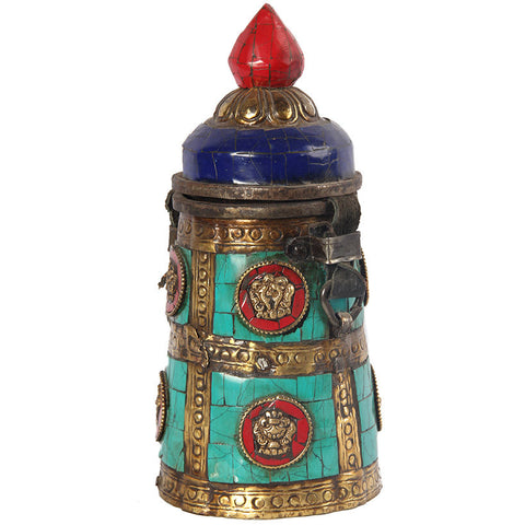 Tibetan Scroll Holder,Essajees, - Artisera