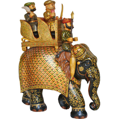 Elephant with Ambari and Riders,[product_collection],La Boutique, - Artisera