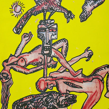 Nautanki,[product_collection],Archer Art Gallery,Jogen Chowdhury - Artisera