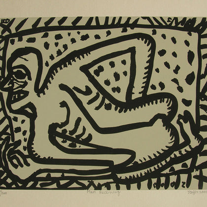 Man Reclining,[product_collection],Archer Art Gallery,Jogen Chowdhury - Artisera