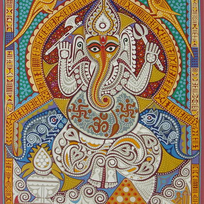 Shree Ganeshay Namah,[product_collection],Archer Art Gallery,Jyoti Bhatt - Artisera