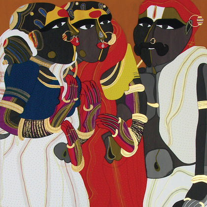 Telangana People,[product_collection],Archer Art Gallery,Thota Vaikuntam - Artisera