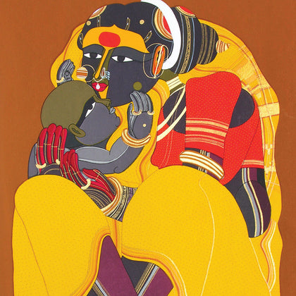 Mother and Child,[product_collection],Archer Art Gallery,Thota Vaikuntam - Artisera