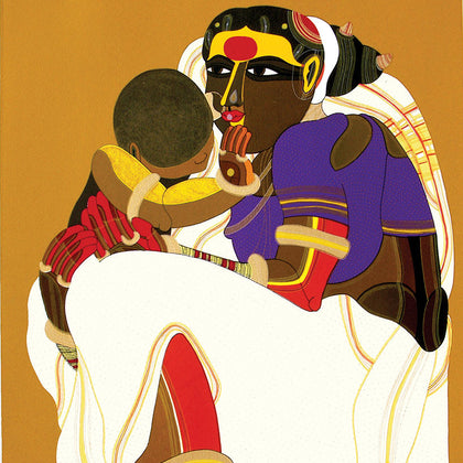 Mother and Child - II,[product_collection],Archer Art Gallery,Thota Vaikuntam - Artisera
