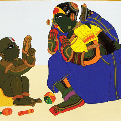 Mother and Child - III,[product_collection],Archer Art Gallery,Thota Vaikuntam - Artisera