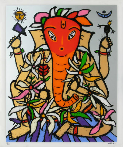 Ganesh - II,[product_collection],Archer Art Gallery,Madhvi Parekh - Artisera