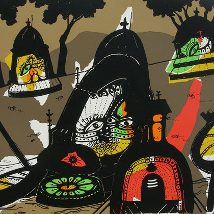 Banaras in Brown,[product_collection],Archer Art Gallery,Manu Parekh - Artisera