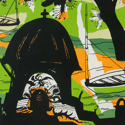 Banaras in Green,[product_collection],Archer Art Gallery,Manu Parekh - Artisera