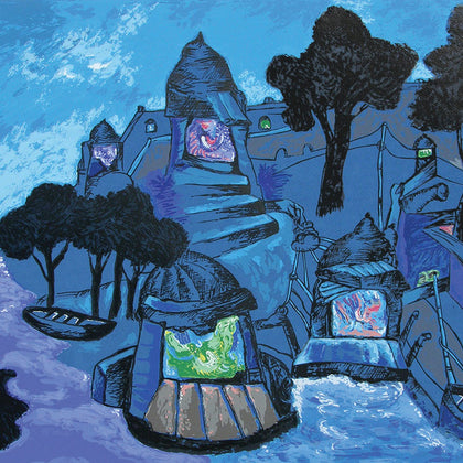Banaras in Moonlight,[product_collection],Archer Art Gallery,Manu Parekh - Artisera