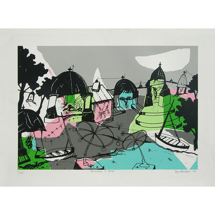 Banaras in Grey,[product_collection],Archer Art Gallery,Manu Parekh - Artisera