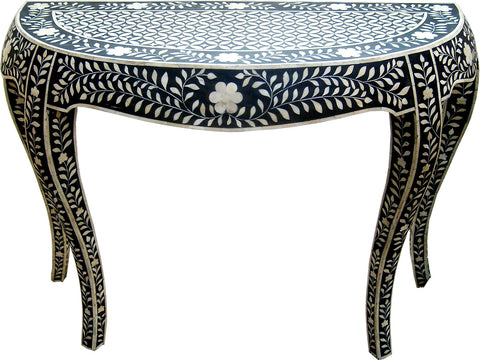 Semi Circular Console Table,Bone Inlay Furniture, - Artisera