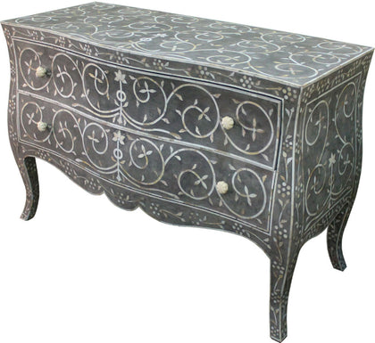Grey Chest of Drawers,[product_collection],Bone Inlay Furniture, - Artisera
