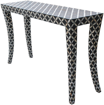 Diamond Console Table,[product_collection],Bone Inlay Furniture, - Artisera
