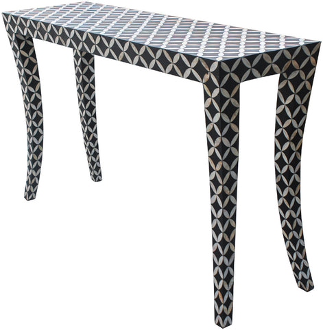 Diamond Console Table,Bone Inlay Furniture, - Artisera