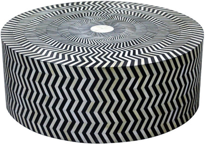 Zig Zag Retro Coffee Table,[product_collection],Bone Inlay Furniture, - Artisera