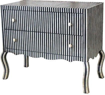 Striped Chest of Drawers,[product_collection],Bone Inlay Furniture, - Artisera