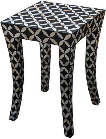 Diamond Side Table,Bone Inlay Furniture, - Artisera