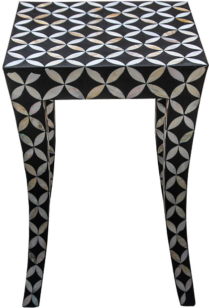 Diamond Side Table,[product_collection],Bone Inlay Furniture, - Artisera
