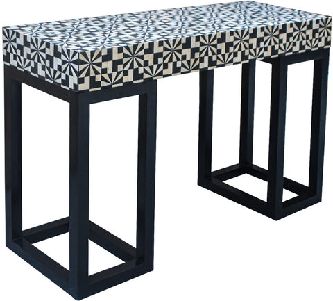 Houndstooth Console Table,Bone Inlay Furniture, - Artisera