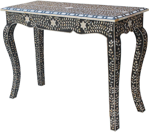Leaf Pattern Console Table,[product_collection],Bone Inlay Furniture, - Artisera