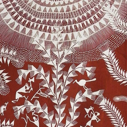 Warli - Untitled 29,[product_collection],Must Art,Balu Jivya Mashe - Artisera