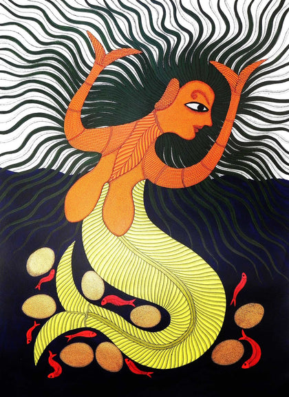 Gond - Untitled 03,[product_collection],Must Art,Bhajju Shyam - Artisera
