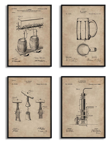 Bar Essentials Patent Documents (Set of 4)