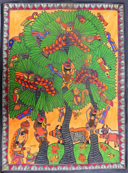 Madhubani - Untitled 03,[product_collection],Must Art,Chanderkala Devi - Artisera