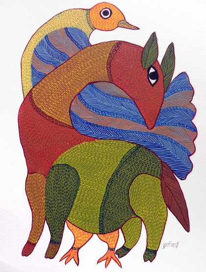 Gond - Untitled 05,[product_collection],Must Art,Durga Bai - Artisera