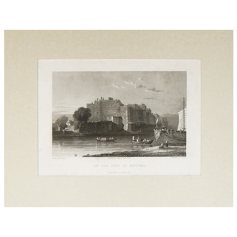 An Old Fort at Muttra, 1832,La Boutique, - Artisera