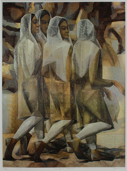 The Friends,Emami Chisel Art,Jehangir Sabavala - Artisera