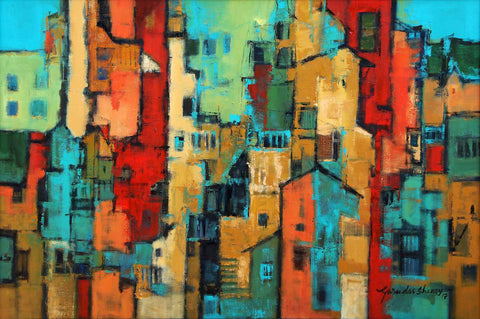 Urban Impressions - II,[product_collection],Artisera Paintings,Gurudas Shenoy - Artisera