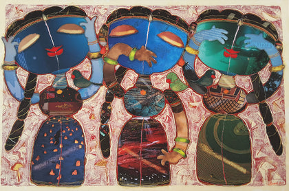 Hear No Evil, Speak No Evil, See No Evil,[product_collection],Artisera Paintings,G. Subramanian - Artisera